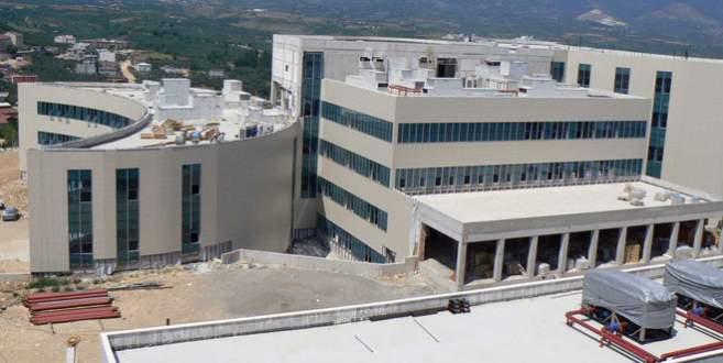 Yeni hastanenin kaba inşaatı bitti