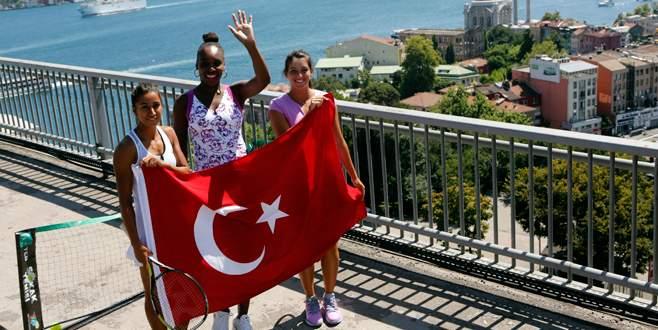 Köprüde Venus Williams şov!