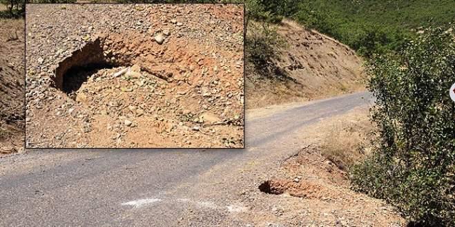 Karakol yolunda 120 kilo patlayıcı bulundu