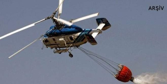Yangın söndürme helikopteri göle düştü