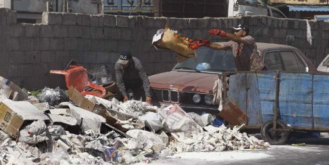 Sokaklarda çöp yığınları oluştu