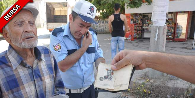Yaşlı adam polisleri şaşkına çevirdi