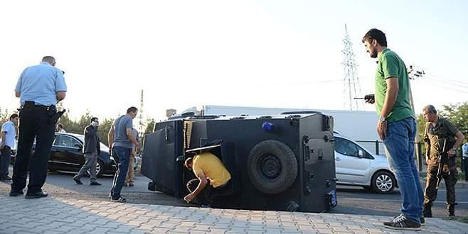 Zırhlı araç devrildi: 6 polis yaralı