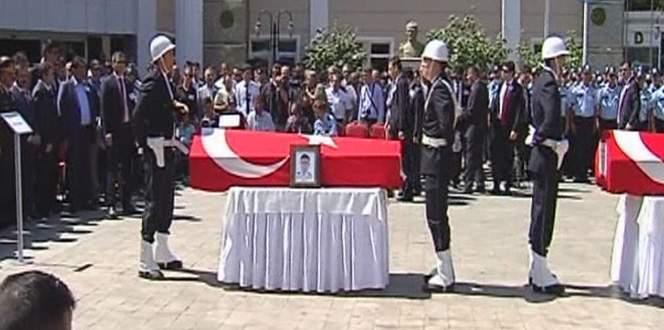 Şehit polislere son görev