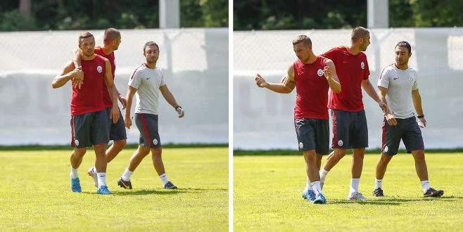 Galatasaray antrenmanında olay çıktı