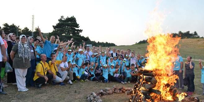 Bursalı gençler kamp ateşini 15. kez yaktı
