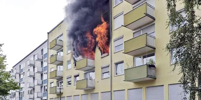 Tahliye kararına kızdı, daireyi havaya uçurdu