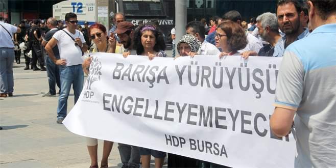 HDP'den polis eşliğinde basın açıklaması