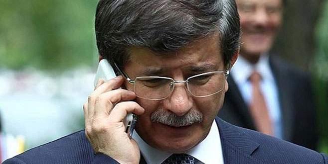 Davutoğlu, Cameron'la telefonla görüştü