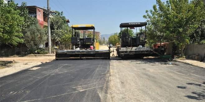 Orhangazi caddeleri asfaltlanıyor