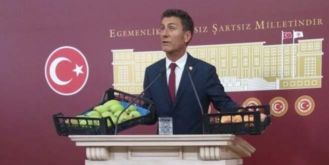 Sarıbal'dan Meclis'te armut ve şeftalili DOSAB eleştirisi