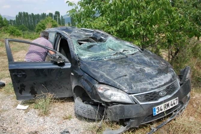 Denizli'de Araç Takla Attı: 1 Yaralı