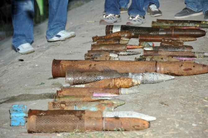Kızılırmak Nehri'nden 130 Adet Çeşitli Tipte Eğitim Bombası Çıktı