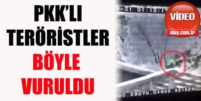 PKK'lı teröristler böyle vuruldu