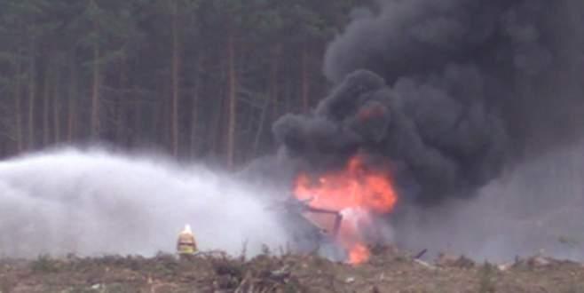 Askeri helikopter böyle düştü
