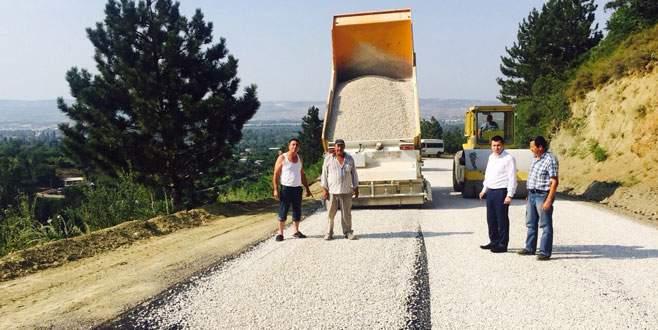 Kırsalda asfaltlama sürüyor