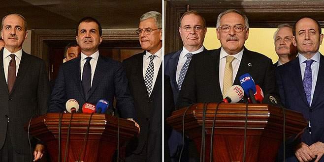 AK Parti ile CHP heyetleri son kez görüştü