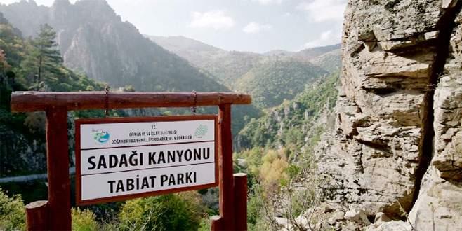 Sadağı Kanyonu turizme açılıyor