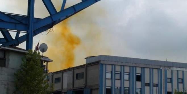 Sanayi bölgesinde kimyasal sızıntı