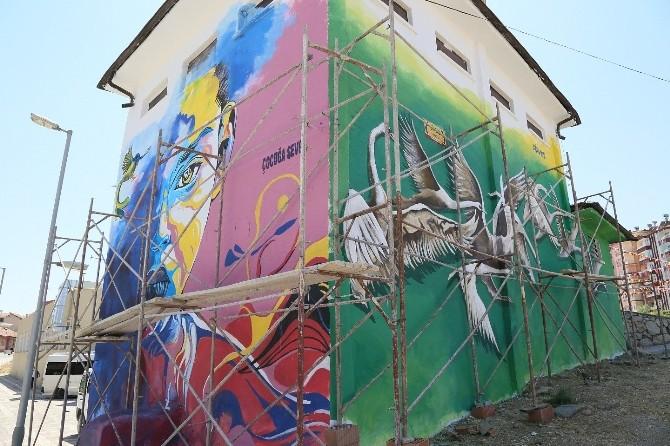 Battalgazi'deki Elektrik Trafoları Renkleniyor