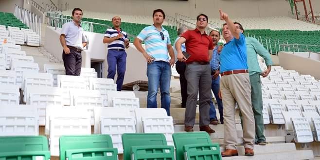 TFF yetkilileri, 'Timsah Arena'yı inceledi