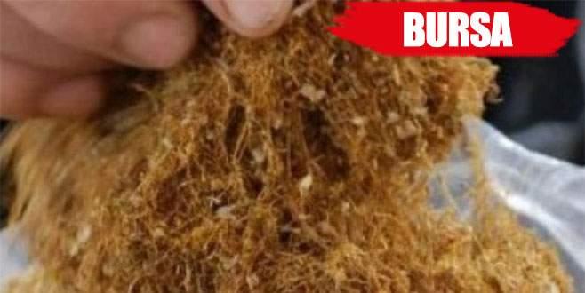 Bursa'da 4 ton kaçak tütün yakalandı