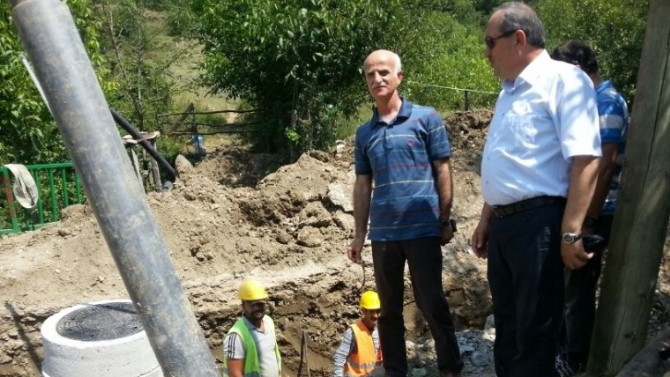 İller Bankası Bölge Müdürü Aktaş, Ulus'da Alt Yapı Çalışmalarını İnceledi