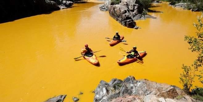 Çevreciler nehre zehir akıttı!