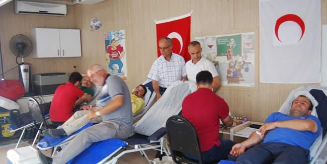 Orhaneli'nde kan bağışı