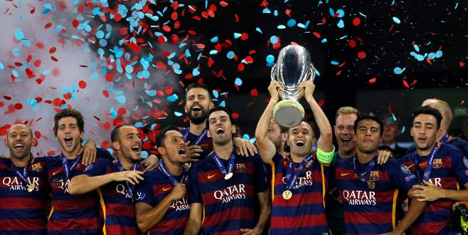 UEFA Süper Kupa Barcelona'nın