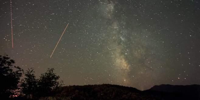 Bursa'da meteor yağmuru böyle gözlemlendi