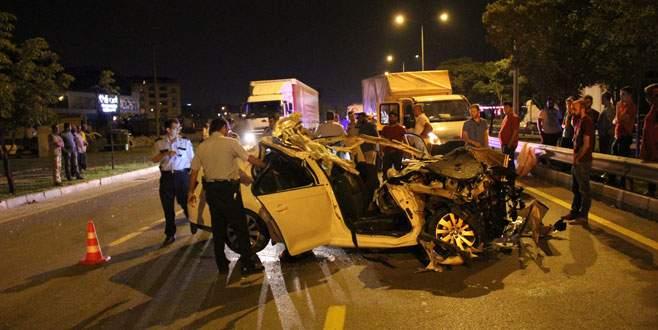 Bursa'da düğün dönüşü kaza: 3 ölü, 2 yaralı