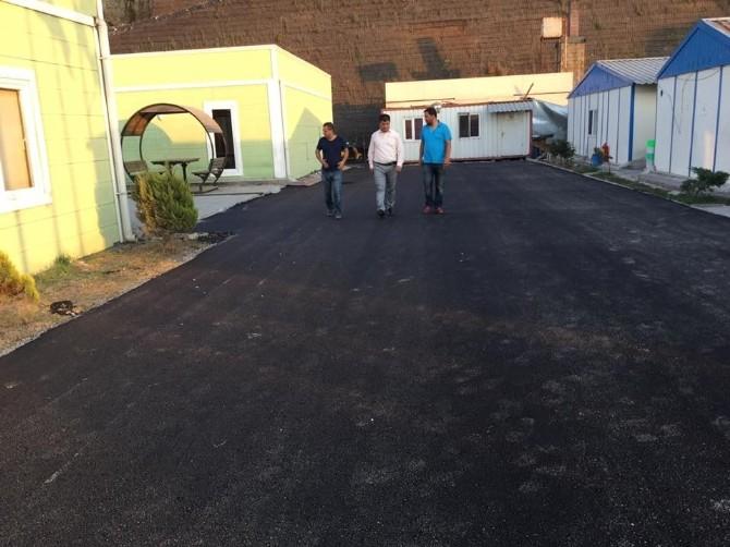 Kozlu Belediyespor Sahasının Önü Asfaltlandı