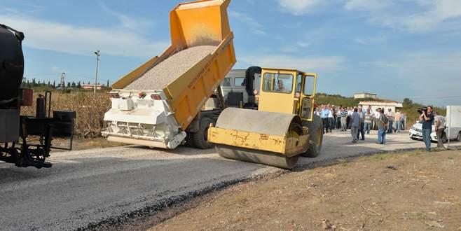 Karacabey'e 110 bin ton asfalt