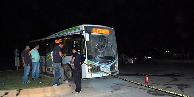 Belediye otobüsüne saldırı