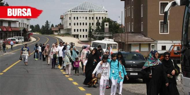 Arap turistlerin gözdesi Uludağ