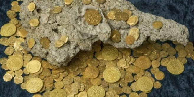 Hazine avcıları 350 altın sikke buldu!