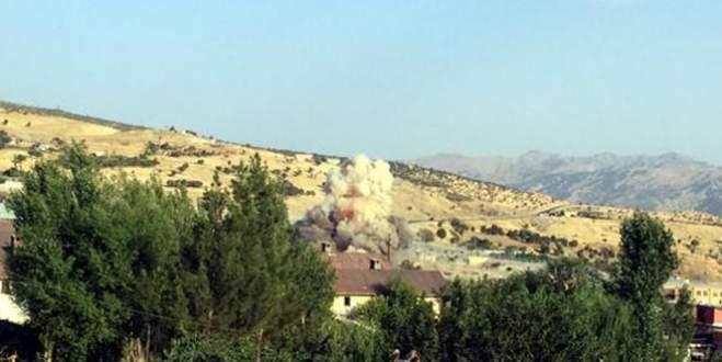 Bomba yüklü araç böyle patlatıldı