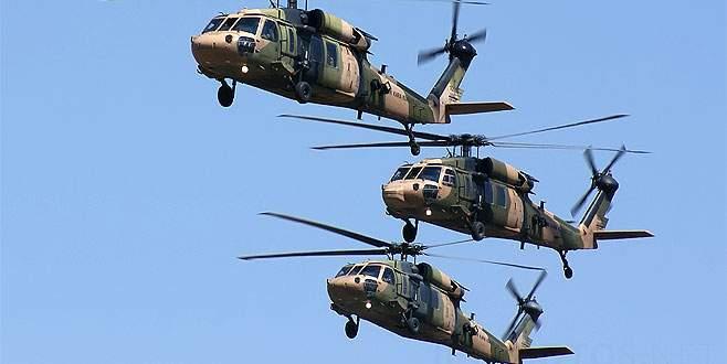 Sikorskyler bölgeye komando indiriyor!