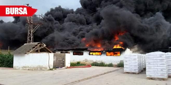 Fabrikadaki yangın panik yarattı