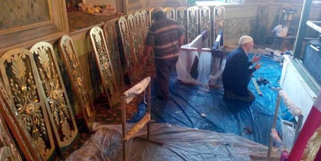 600 yıllık kündekariler onarıldı