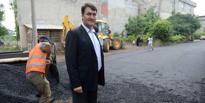 Osmangazi'de asfalt çalışmaları sürüyor