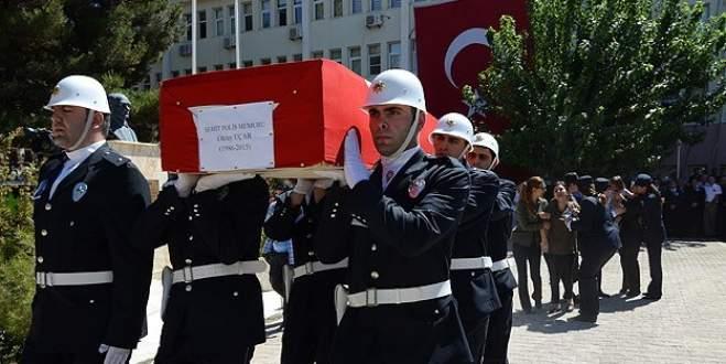 Şehit polis memuru Uçar için tören düzenlendi