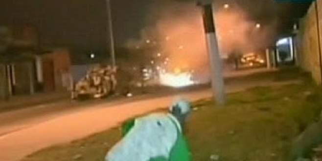 Gecekondu sakinleri polisle çatıştı