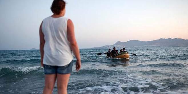 Ege denizinde bir mülteci vuruldu