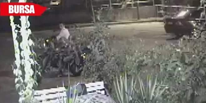 Motosiklet hırsızları işte böyle görüntülendi