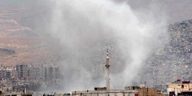 Şam'a havanlı saldırı