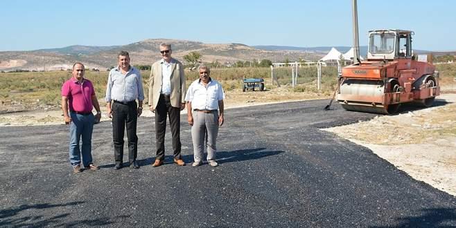 Karacabey'de asfalt çalışması