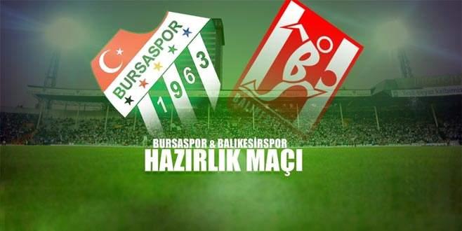 Bursaspor, Balıkesirspor ile hazırlık maçı yapacak