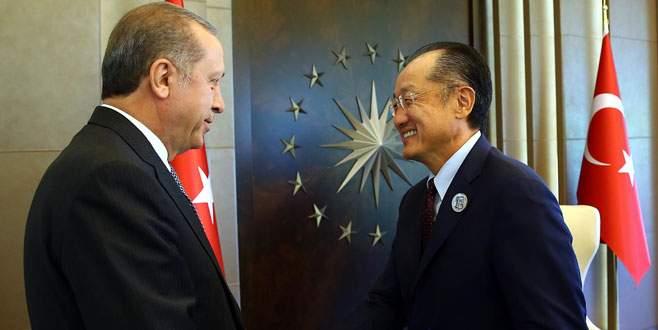 Erdoğan Kim'le görüştü